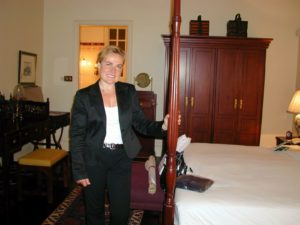At Raffles Hotel in Singapore where I stayed for a week. Even had my own butler!