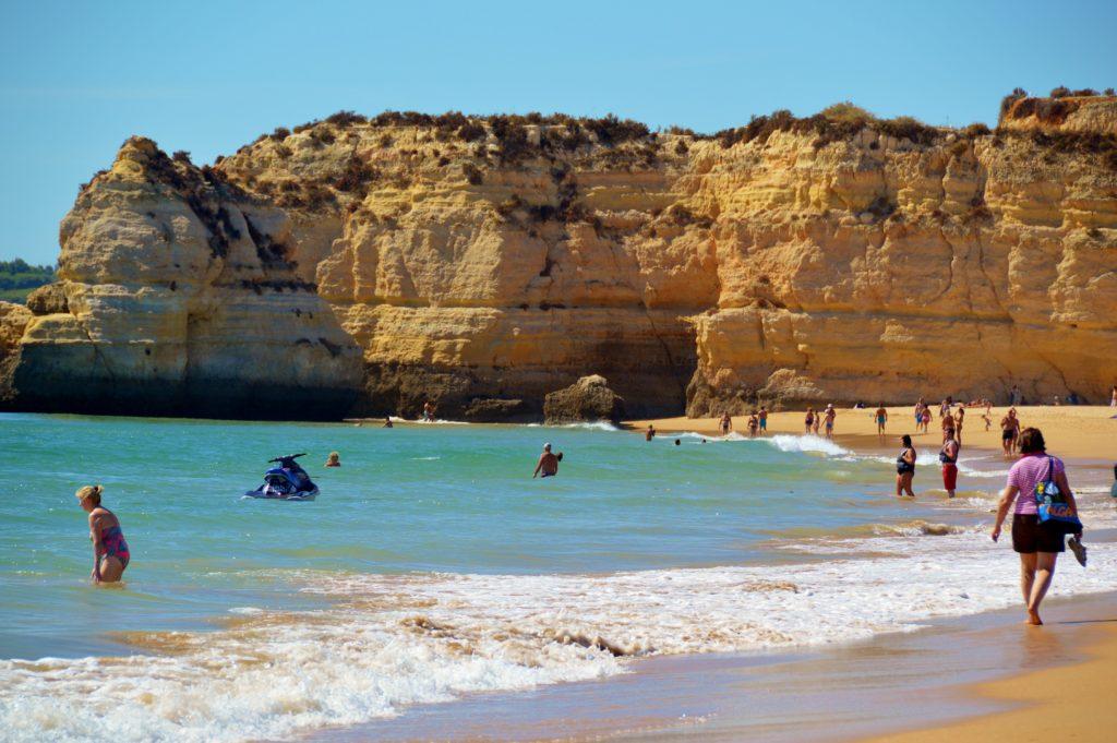 Beautiful cliffs around Portimao