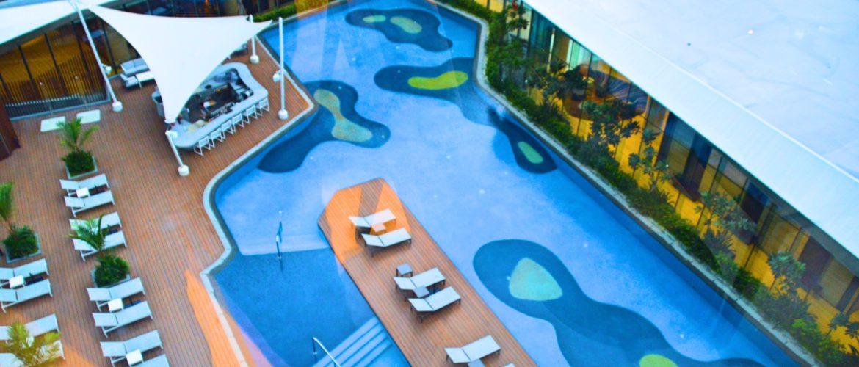 Pool at Conrad Manila Hilton