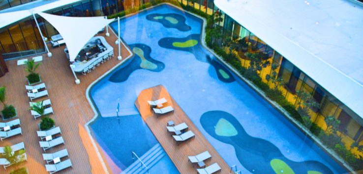 Pool at Conrad Manila Hilton