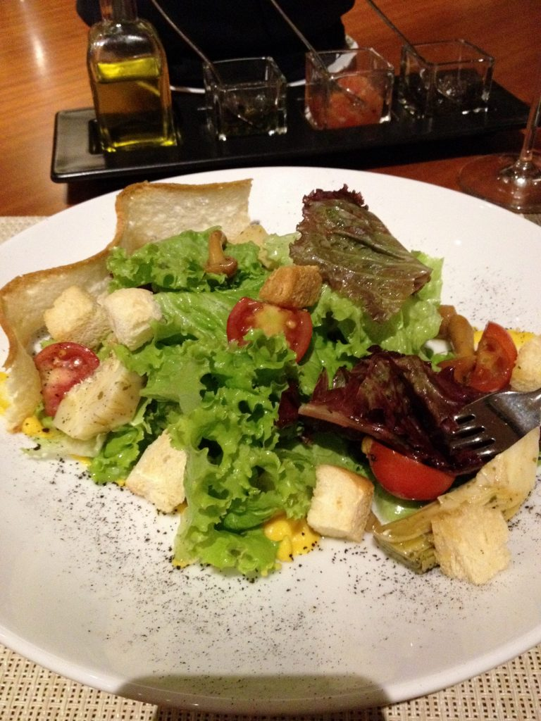Brasserie on 3 - the Organic Salad at the Hilton Manila