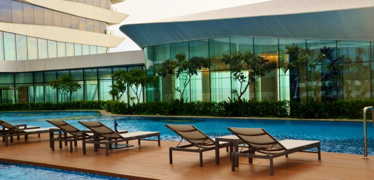 Pool at Conrad Hilton Manila