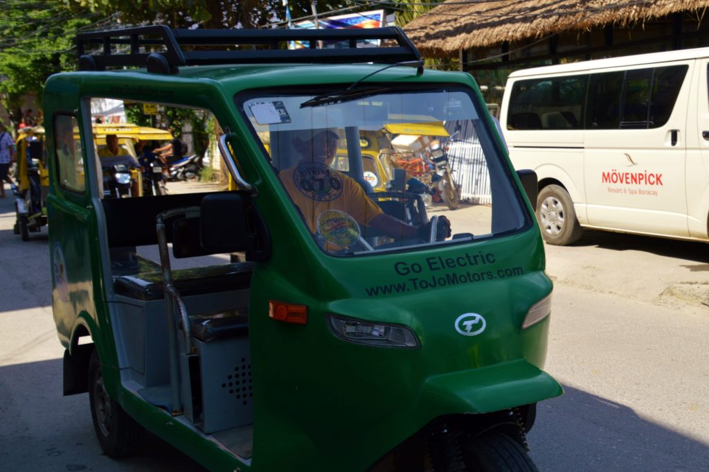 Electric trike on Boracay Island