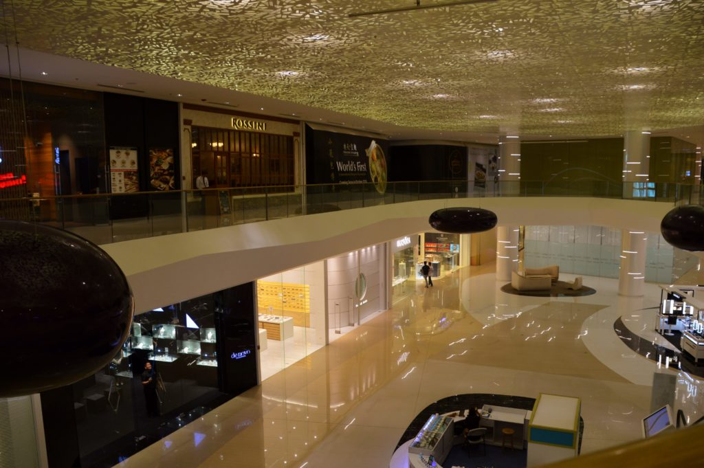 Upper floor of S Maison shopping center attached to the Hilton