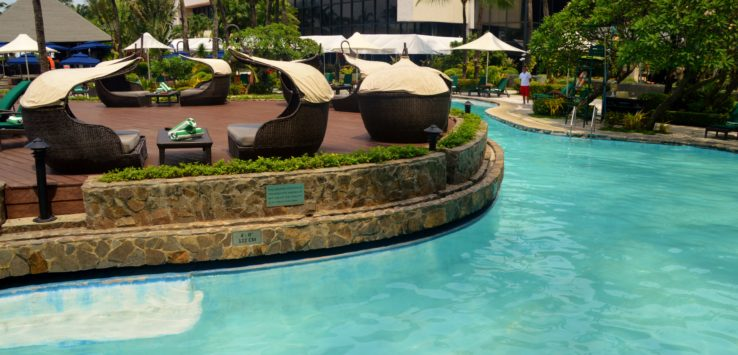 Pool at the Sofitel Philippine Plaza Hotel in Manila