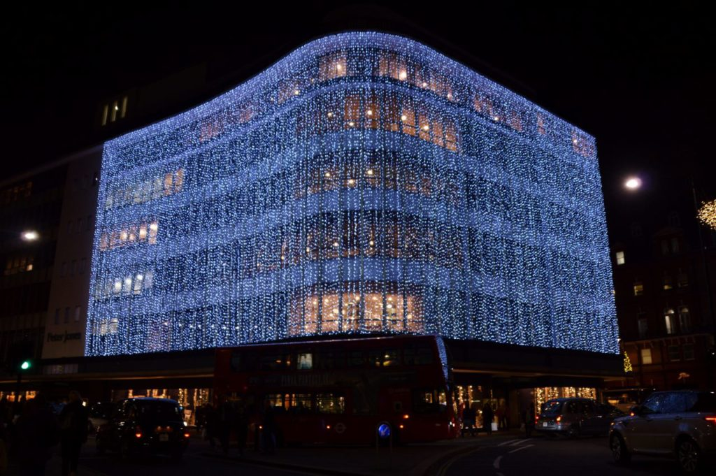 Peter Jones Department store lights