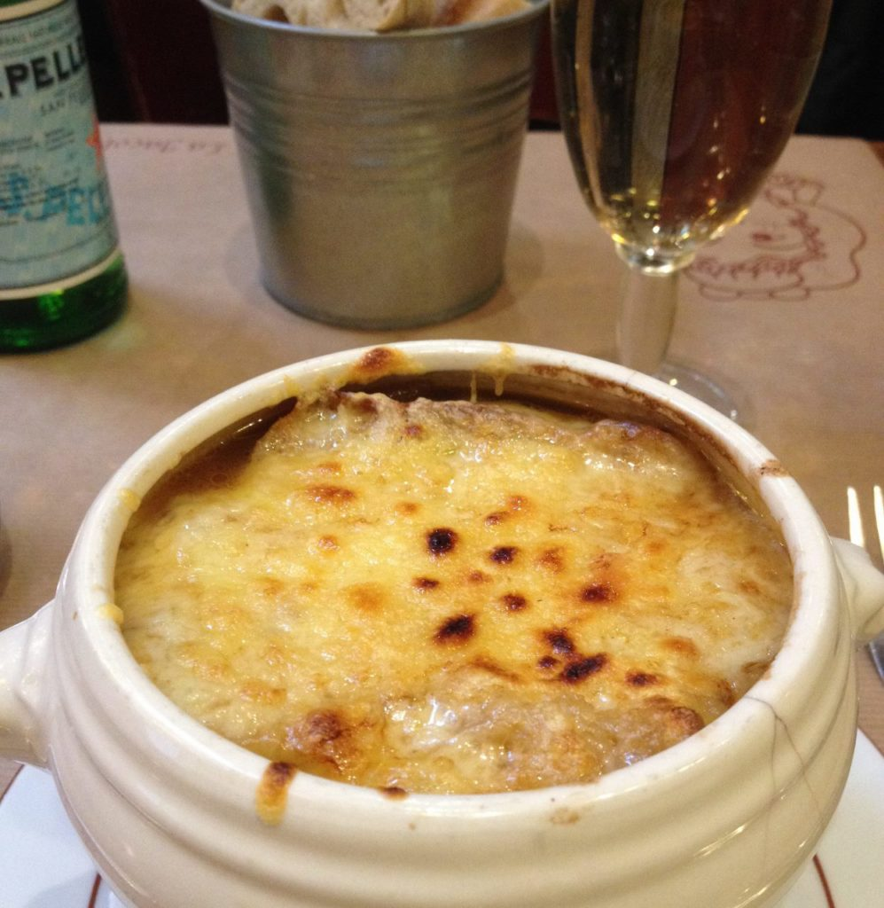 French Onion soup in Paris at La Jacobine Restaurant