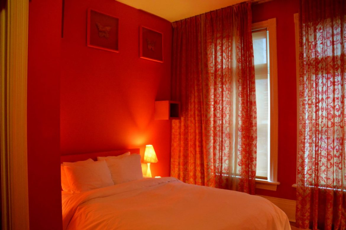 The Red Room at the Gladstone Hotel in Toronto