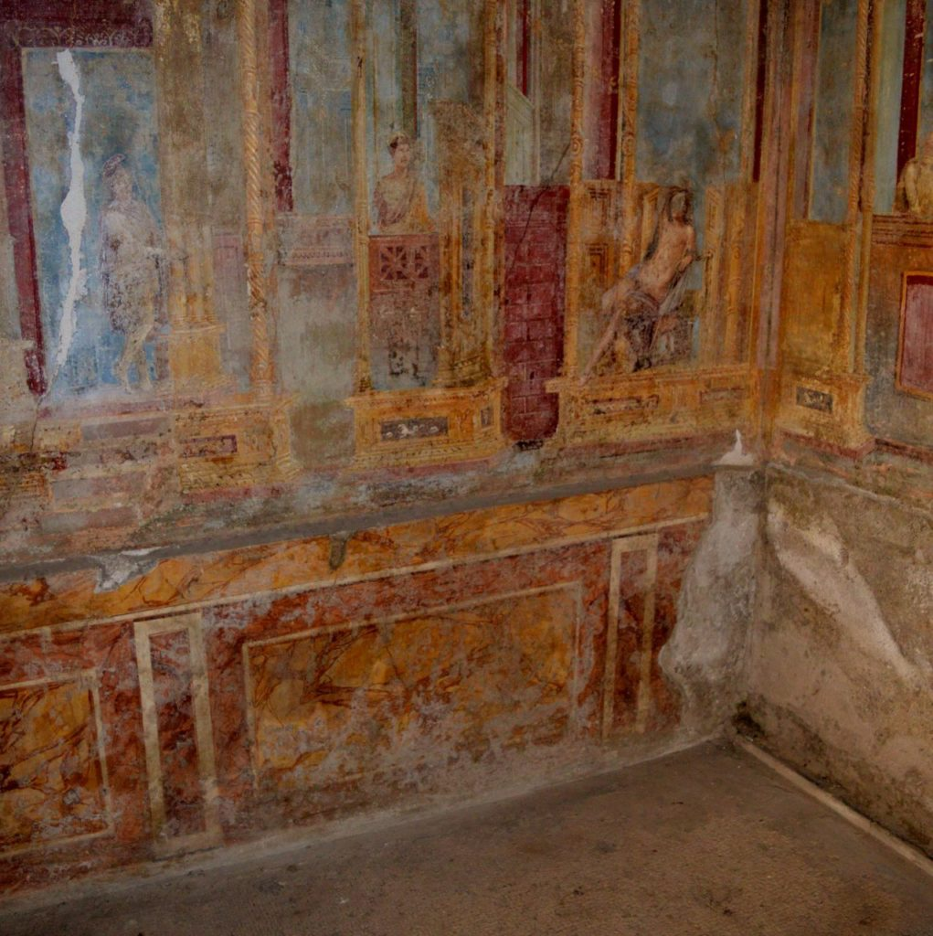 Frescoes in Pompeii