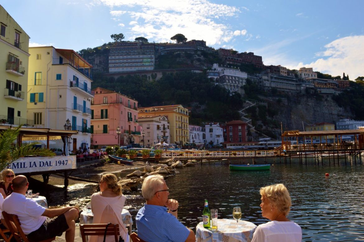 Enjoy a beverage at Marina Grande in Sorrento