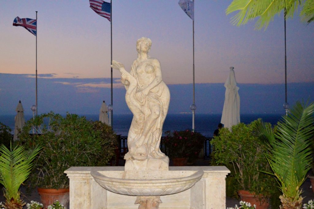 One of the Sirens of Sorrento at the Grand Hotel Europa.
