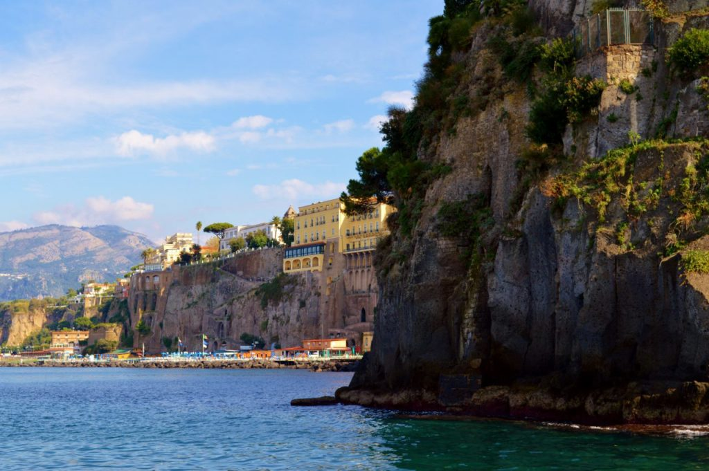 Views of the Sorrento coastline