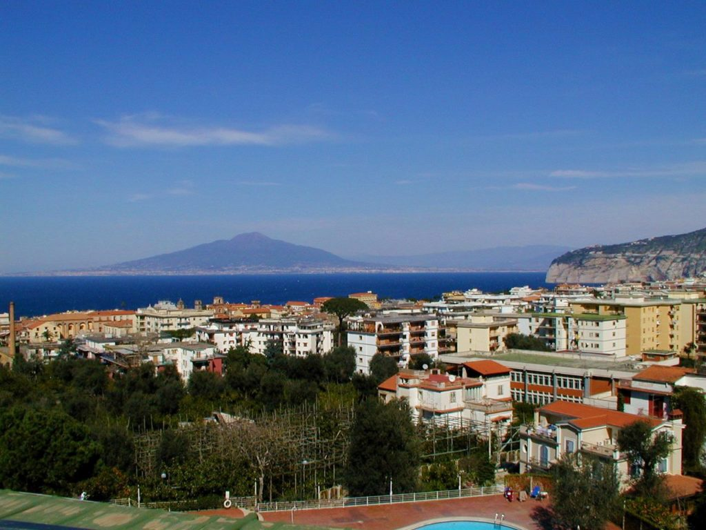 View from my terrace at the Hilton Sorrento Plaza Hotel
