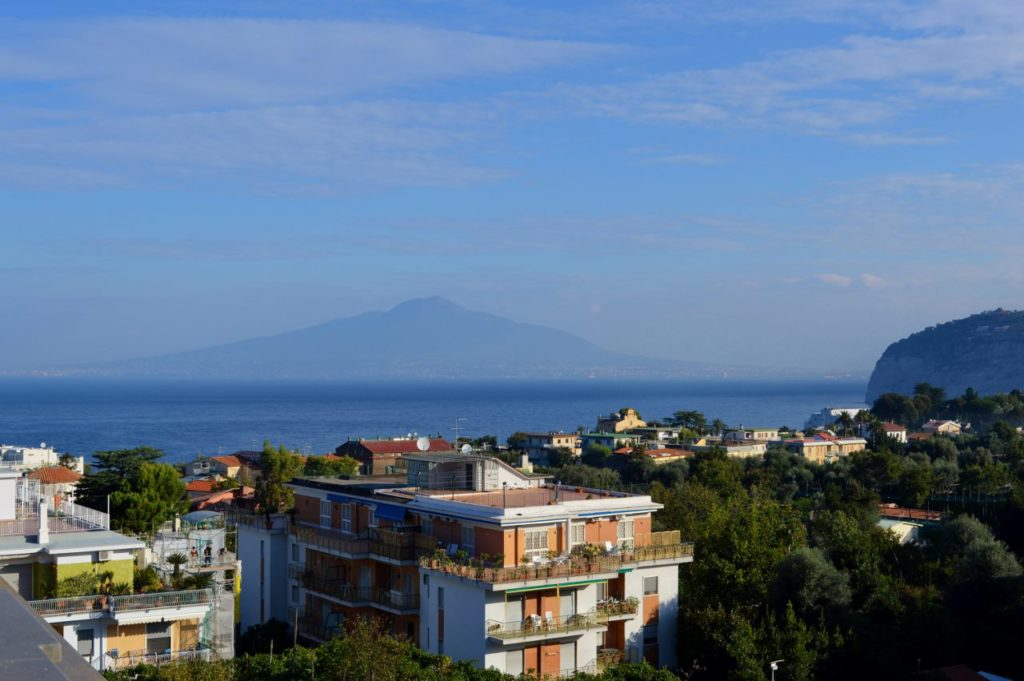 Views of Vesuvius from my balcony at Hotel Zi' Teresa