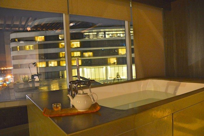 bathtub in a spa
