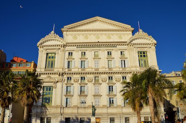 Nice Opera House facing the Mediterranean