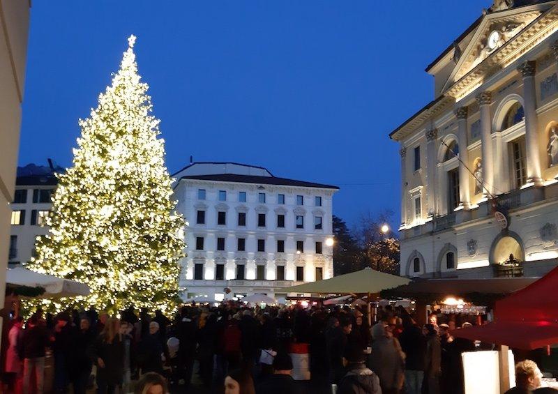 L'albero di Natale di Lugano