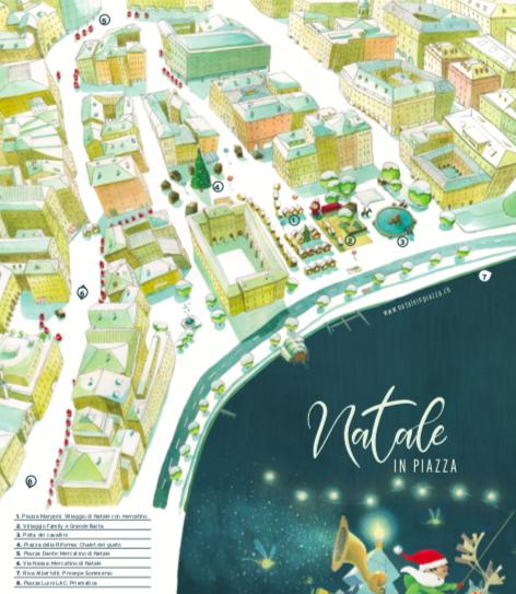 Natale in Piazza Lugano Mappa del mercatino di Natale