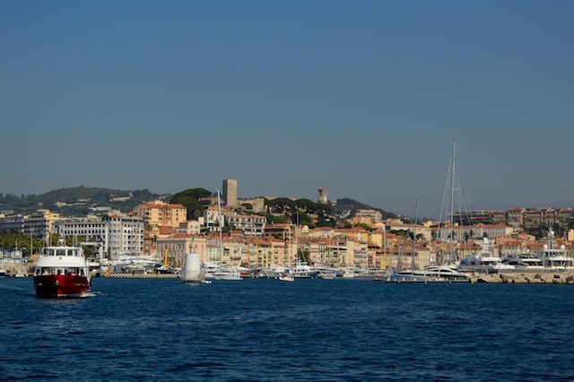 Beautiful Cannes from the sea.